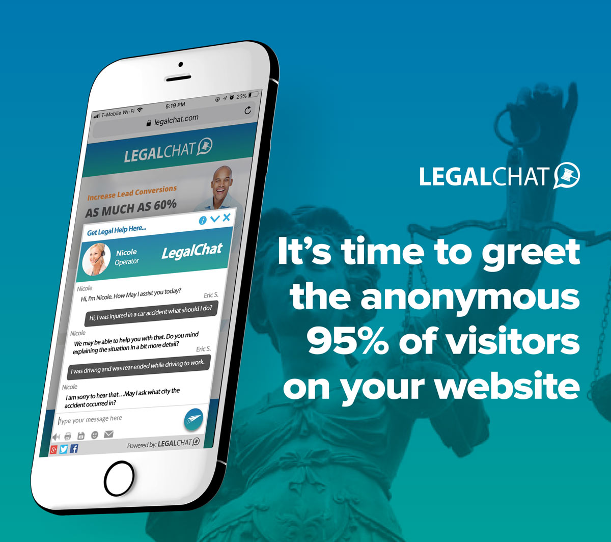 It's time to greet the anonymous 95% of visitors on your legal website.